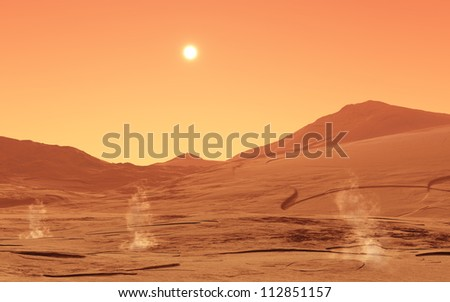 Summer-day from mars - stock photo