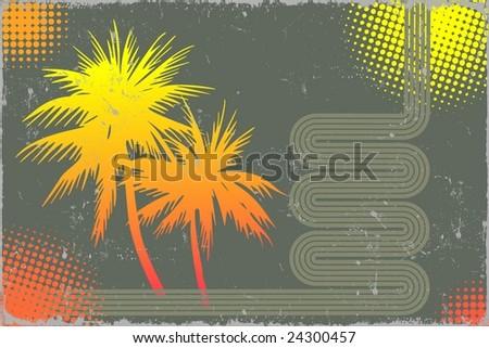 Summer design - stock photo