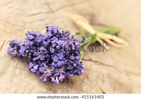 Summer flowers. Lavender summer flower. Summer flower. Card with summer flowers. Summer flowers still life. Summer flowers on old wood. Summer flowers  on wooden background.Summer flowers, copy space. - stock photo
