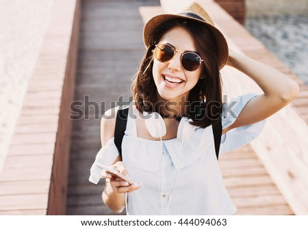 Summer girl portrait - stock photo