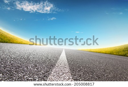 Summer High Way - stock photo