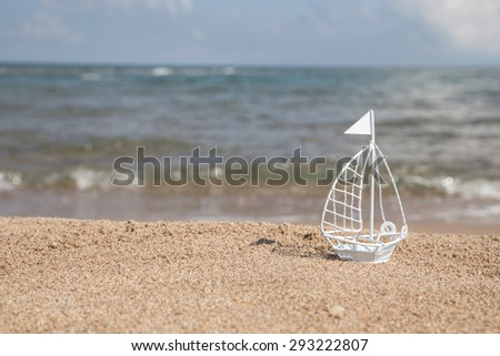 summer holiday template - stock photo