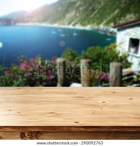 summer home and desk top  - stock photo