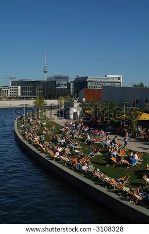 summer in berlin - stock photo
