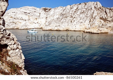 Summer in France. Island off Marseilles. - stock photo
