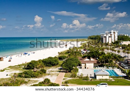 Summer in Lido Beach, Florida - stock photo