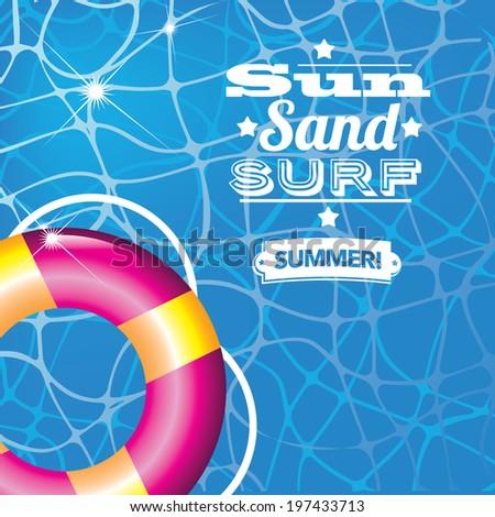 Summer inner tube background. - stock photo