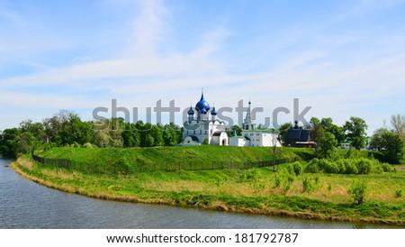Summer ladscape of Suzdal, old russian city in Vladimir region, Russia - stock photo