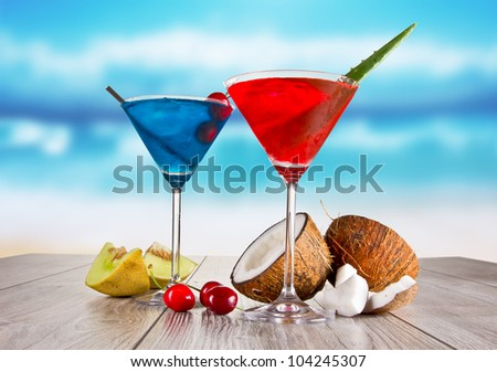 Summer martini drinks - stock photo