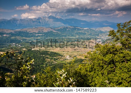 Summer mountain landscape - stock photo