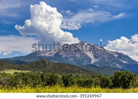 Summer mountain landscape near Aspen, Colorado - stock photo