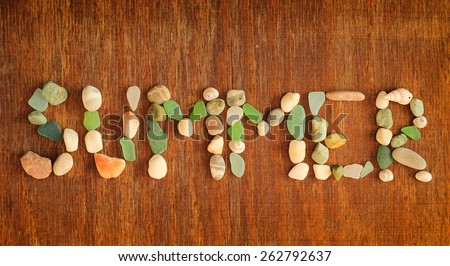 summer note, background, card - stock photo
