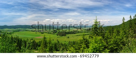 Summer panorama - stock photo