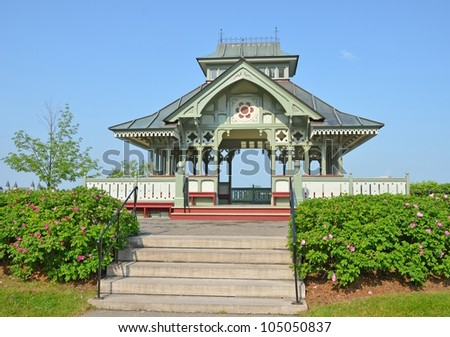Summer Pavilion behind the Parliament buildings in Ottawa , Ontario Canada - stock photo