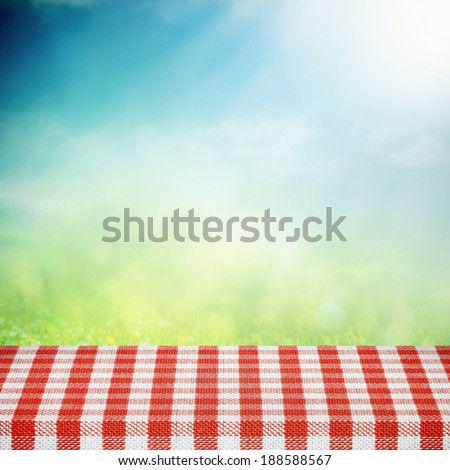 Summer picnic concept on sunny natural background - stock photo