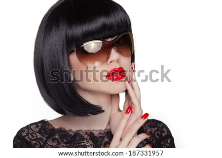 Summer portrait of an attractive young woman with sunglasses, beauty and fashion concept - stock photo