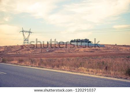 Summer rural landscape near Kastoria in Greece - stock photo