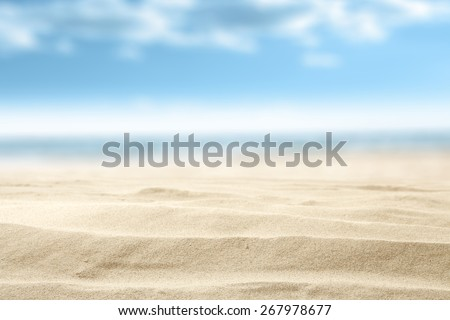 summer sand and free space with blue sky decoration  - stock photo