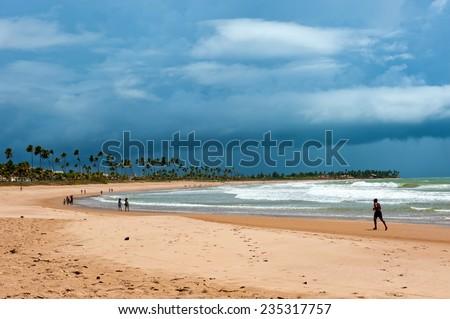 Summer Scene in tropical Beach - stock photo