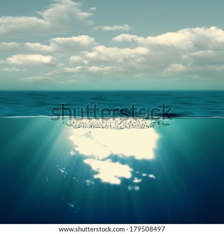 Summer sea, abstract environmental backgrounds - stock photo