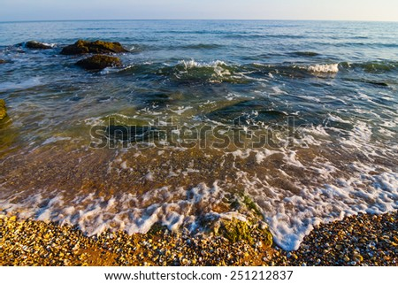 summer sea beach - stock photo
