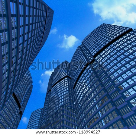 Summer skies in the city - stock photo