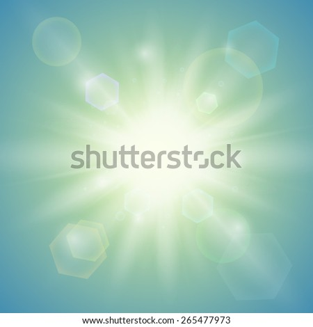 Summer sun. Abstract background - stock photo