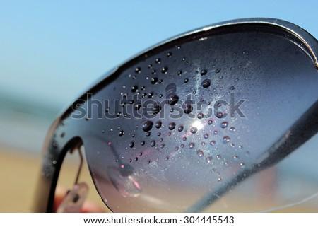 summer sunglasses - stock photo