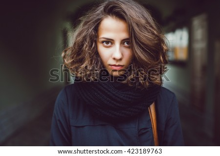 Summer sunny lifestyle fashion portrait of young stylish hipster woman walking on street,wearing cute trendy outfit,drinking hot latte,smiling enjoy weekends,travel with backpack,coffee,rest,lounge  - stock photo
