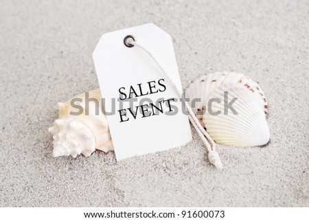 Summer Time Retail Sales Event Tag - stock photo