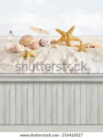 Summer wall background/backdrop - stock photo