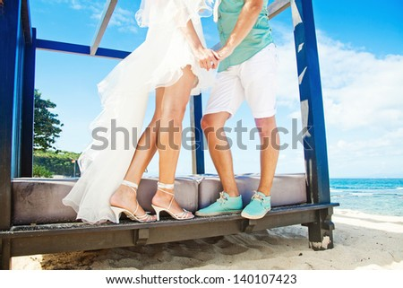 Summer wedding fashion - stock photo
