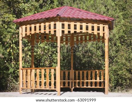 summerhouse in park - stock photo