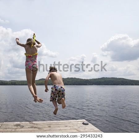 Summertime for kids - stock photo