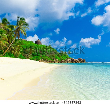 Summertime Landscape Panorama  - stock photo