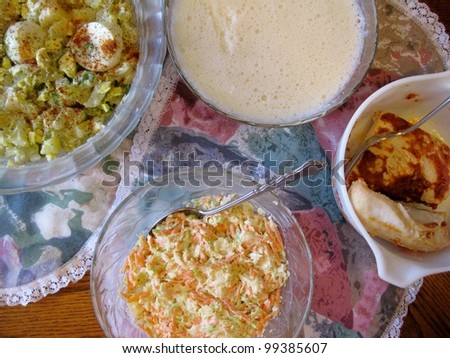 Summertime meal - stock photo