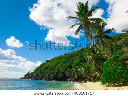 Summertime Tranquility Bay  - stock photo