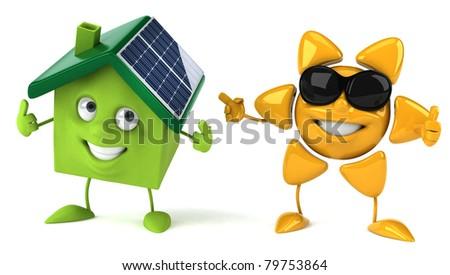 Sun and solar energy - stock photo