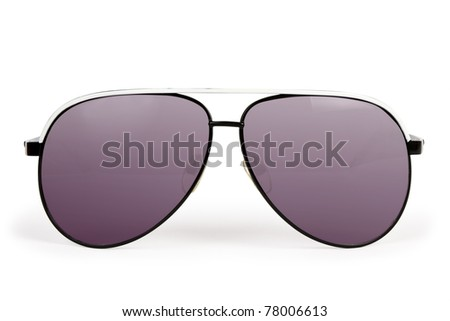 Sun glasses on the white backgrounds - stock photo
