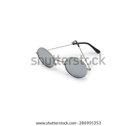 sun glasses on white background - stock photo