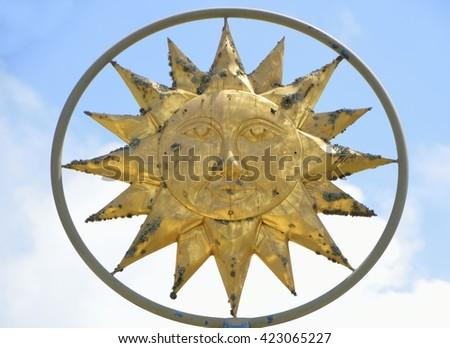Sun God Symbol - stock photo