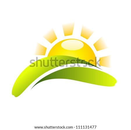 Sun Icon Creative Design - stock photo