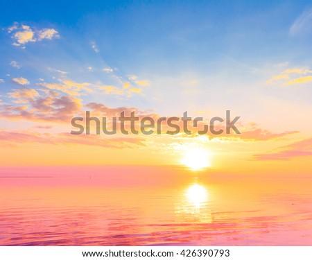 Sun Panorama Rising  - stock photo