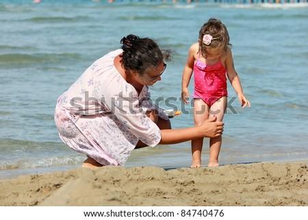 sun protection - stock photo