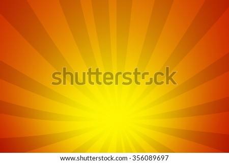 Sun rays background - stock photo