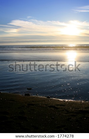 Sun Reflecting on the Water - stock photo