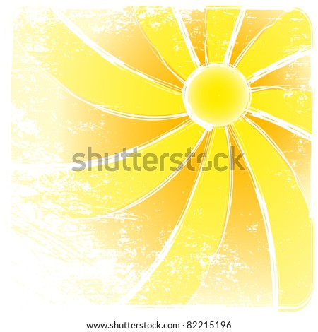 Sunburst grunge And Abstract Backgrounds. Raster version  illustration - stock photo