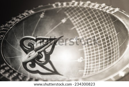Sundial made in the era of Joseon Dynasty and displayed in Gyeongbokgung, Seoul, South Korea - stock photo