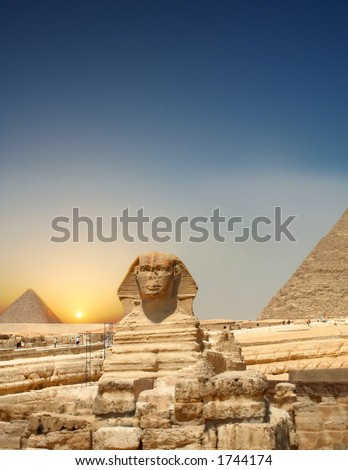 Sundown Sphinx - stock photo