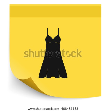 Sundress icon. Evening dress. Combination or nightie. The silhouette.  - stock photo